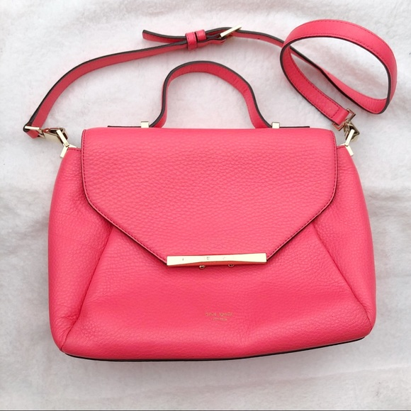 Kate Spade Coral pink crossbody purse